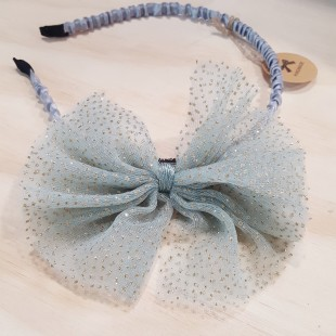 Little Ellie Hand Made Kids Headband - Cyan